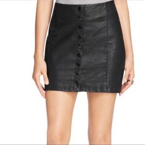 Free people oh snap vegan leather skirt